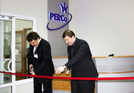 Cutting of the ribbon at the official opening of the new PERCo manufacturing plant