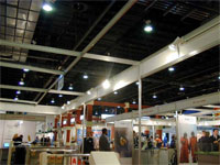 The exhibition hall with PERCo turnstiles at the exhibition. Dubai, UAE.