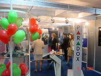 PERCo turnstiles at the exhibition. Bucharest, Romania.