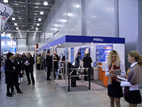 The exposition at the exhibition PERCo Security Technologies. Moscow, Russia.