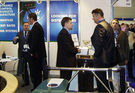 PERCo presented its turnstiles at IFSEC 2005 exhibition in UK