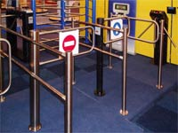 Wicket gates PERCo at the exhibition for security IFSEC-2006. Birmingham, UK.