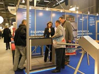 Box turnstile and Tripod PERCo on EXPOPROTECTION/FEU-2006. Paris, France.