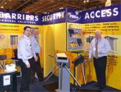 PERCo turnstiles at the exhibition IFSEC 2007 in Birmingham, England