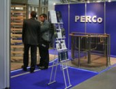 Rotary turnstile PERCo Forum and Exhibition «SFITEX-2007». SPb, LenExpo.