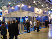 Exhibition area PERCo at the exhibition «Security and Safety Technologies-2008», Moscow, Russia.