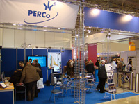 PERCo stand at the exhibition «Security and Safety Technologies-2008», Moscow, Russia.