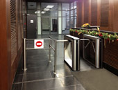 "KT-05 IP-Stile and WMD-05 motorized wicket gate at the entrance hall of BC ""Saint-Petersburg"""