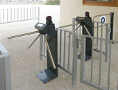 PERCo tripod turnstiles and automatic wicket gate at the Ggantija Temples (UNESCO) in Gozo, Malta. Installation by Miqna Systems Ltd, Swatar-Msida