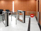 KT-05 IP stiles and WMD-06 motorized swing gate, Basel business-centre, Saint Petersburg