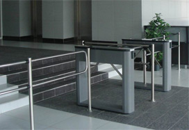 "TTD-03.1 box tripods with BH-02 railing. Business center ""Baltis Plaza"", Saint-Petersburg"
