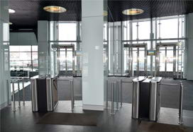TTD-03.1 box tripod turnstiles in Benua Business Centre, St.Petersburg