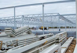 Construction of the plant in Pskov