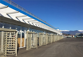 Full height rotor turnstiles RTD-15, Fisht Olympic Stadium, Sochi