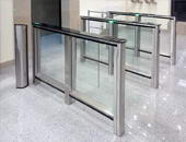 "ST-01 speed gates, business-center ""CITYCENTER"", Novosibirsk. Installed by ""AILANT"", Novosibirsk"