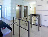 TTD-03.1 box turnstiles and BH-02 railings, Primorsky business-centre, Saint Petersburg
