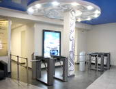 "TTD-03.1G  box tripod turnstiles and BH-02 railings, Business-center ""Owental History"", Saint Petersburg"