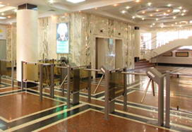 "TTR-04.1 tripod turnstiles, business-center, ""Polyanka"", Moscow"