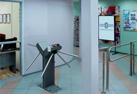 TTR-04.1 tripod turnstile, Fitness House on Prazhskaya st., Saint Petersburg