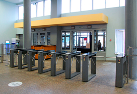 Box tripod turnstile TTD-03.1G, National technological research university MISiS, Moscow