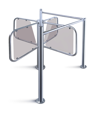 RTD-03S Waist-high Rotor Turnstile with RB-03S guide barrier set