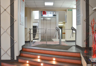 TTR-04.1 tripod turnstiles and BH02 waist-high railing systems