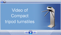 Video of PERCo Compact tripod turnstiles