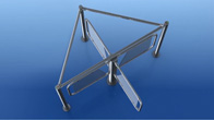 RTD-03S waist-high rotor turnstile with RB-03S guide barrier