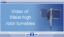 Video of PERCo Waist-high rotor turnstiles
